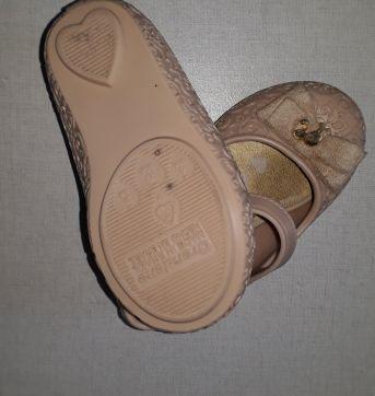Sapato Barbie bege dourado - 19 - Grendene
