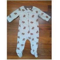 Macacão Carter`s Fleece Importado - 9 meses - Estampa Ursos - 6 a 9 meses - Carter`s