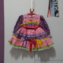 Vestido de festa Junina - 1 ano - Tango Fashion