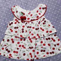 Blusa estampada de cerejinhas - 3 anos - Anjos baby