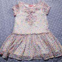 Vestido estampado de florzinhas - 3 anos - Póim