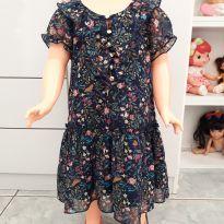 Vestido com estampa de florzinha - 24 a 36 meses - Póim