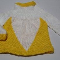 Blusa em lã - 9 a 12 meses - Artesanal