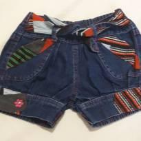 Short jeans com elástico - 4 anos - Menina Bonita