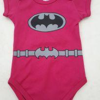 Body BatGirl tamanho M novo - 6 meses - Diversas
