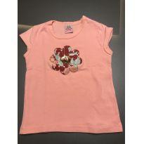 Camiseta rosa com flor - 4 anos - Nina Kids