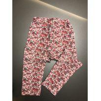 Calça legging rosas - 4 anos - Tip Top