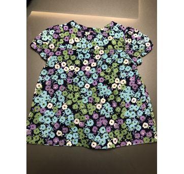 Blusa flores azul - 24 a 36 meses - Baby Gap