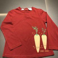 Camiseta Cenoura - 3 anos - Zara