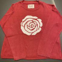 Blusa flor branca - 5 anos - Zara