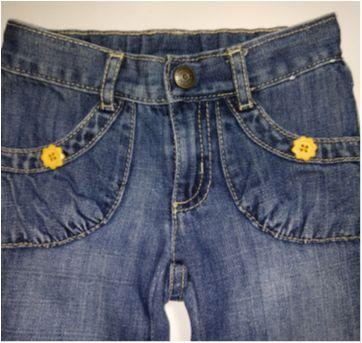 Calça Jeans Gymboree com bordado - 2 anos - Gymboree