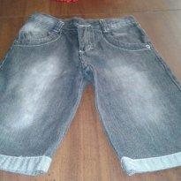 Bermuda masculina jeans preto - 6 anos - Farrapinhos e pernambucanas