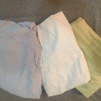 [C061] Lençol Berço Elástico Tecido 100% algodão branco (unidade) - Sem faixa etaria - Não informada