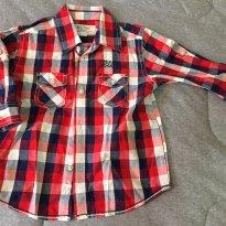 [C098] Camisa social quadriculada Baby Club - 9 a 12 meses - Baby Club