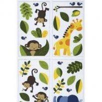 [C152] Kit adesivos parede importado - Tema Safari - Sem faixa etaria - Kids Line