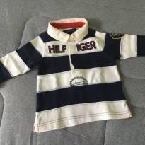 [CD332] Blusa Pólo Comprida Grossa Tommy - 6 a 9 meses - Tommy Hilfiger