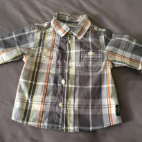 [C412] Camisa Social Comprida Quadriculada - 3 meses - OshKosh