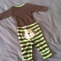 [C407] Conjunto calça e body manga comprida Cachorrinho Carters - 3 meses - Carter`s