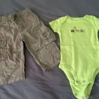 [C406] Conjunto calça cargo e body safari Carters - 3 meses - Carter`s