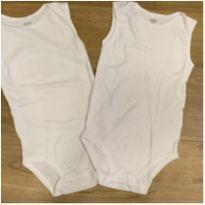 [CD509] Kit 2 Bodies Sem Manga Branco Básico Carters - 2 anos - Carter`s