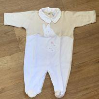 [CD523] Macacão Pólo Coelhinho - 3 meses - Baby fashion