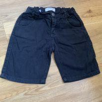 [CD609] Bermuda preta cintura regulável - 6 anos - Kids Denim Boy