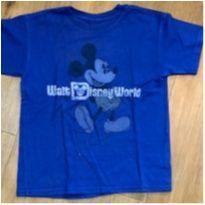[CD655] Blusa clássica azul Mickey - 6 anos - Disney Parks