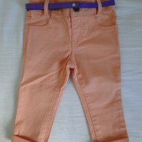 Calça Jeans Coral / Salmon - 9 a 12 meses - mini club
