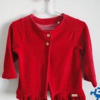 Casaco de Plush Vermelho - 12 a 18 meses - Milk & Co