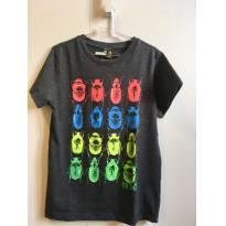 Camiseta Besouros - 7 anos - Grisino