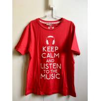 Camiseta Keep Calm - 7 anos - Primark