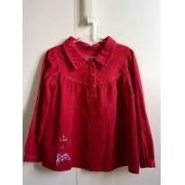 Bata Camisa Veludo - 3 anos - Não informada