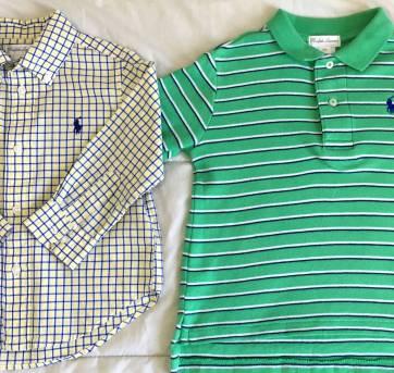 e884e737df Camisa Ralph Lauren 18m e brinde 18 meses no Ficou Pequeno ...