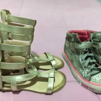 Sandália gladiadora e brinde