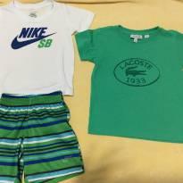 Kit com 3 peças (Nike SB e Lacoste) - 2 anos - Nike e Lacoste