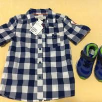 Camisa importada (Londres) e brinde - 18 meses - LOGG da H&M