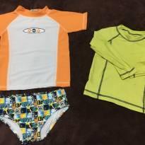 Kit camisa com proteção solar e sunga + brinde - 2 anos - GROW UP BABY e Popcorn