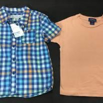 Camisa xadrez e brinde - 2 anos - LOGG da H&M