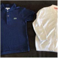 Camisa Lacoste e brinde - 4 anos - Lacoste e Zara