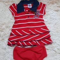 Conjunto bebê, Tip Top, feminino - novo - 0 a 3 meses - Tip Top