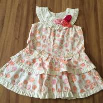 Vestido floral - 6 a 9 meses - Gabriela Aquarela