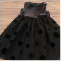 Vestido de festa preto bolas - 2 anos - Cherokee