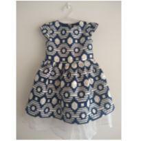 Vestido Azul e Branco Crazy8 - 3 anos - Crazy 8