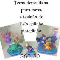 Kit da Galinha Pintadinha em biscuit -  - Artesanal