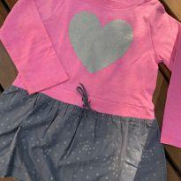 Vestido carters rosa coração 3T - 3 anos - Carter`s
