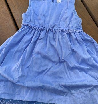 Vestido Zara Kids azul com detalhes em renda - 4 anos - Zara