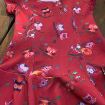 Vestido coruja verao - 2 anos - Pituchinhus