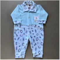 Macacão Azul Estampa Bichinhos - 3 a 6 meses - Celui Baby
