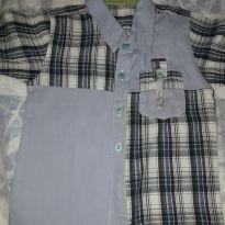 camisa Tigor Baby azul com Quadriculo - 24 a 36 meses - Tigor Baby