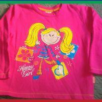Blusa de Frio Moletom Pink - 4 anos - Kyly